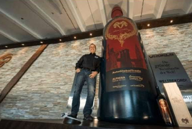 Largest Bottle of Wine (Made by Andre Vogel 13 ft 8.17 in)