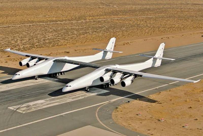 Largest Plane (Stratolaunch 6 engines, 28 wheels)