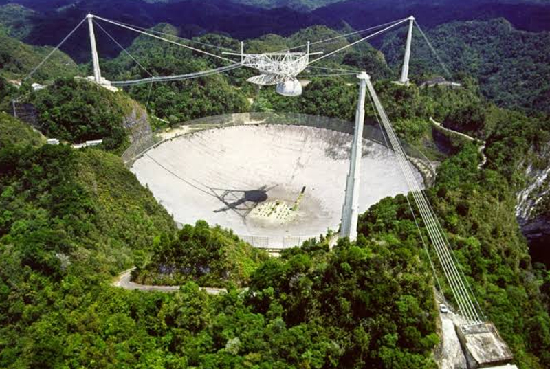 Largest Telescope (Arecibo Observatory Puerto Rico)